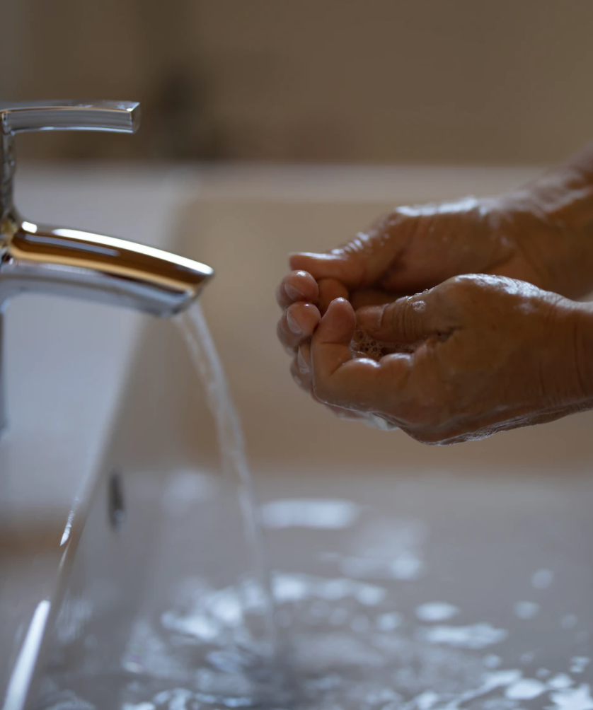 Prevent colds washing hands
